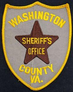 WASHINGTON COUNTY VIRGINIA SHERIFF PATCH VA police enforcement safety patrol