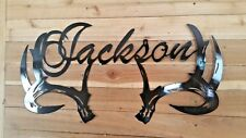 "24"" Antler with name in it WALL ART. CNC PLASMA Metal ART HAND MADE  WACO TX"