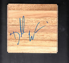 Dorell Wright (2008-09 Heat) Autographed 6x6 Hardwood Floor Tile