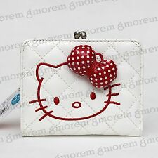 Hello kitty White crystal Kiss-clasp Kiss-lock Wallet pocket Coins Bag Case #87