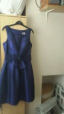 Satin metallic blue/purple occasion dress