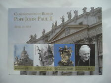 STAMPS POPE JOHN PAUL 11   APRIL 27 2014 CANONIZATION STATES OF MICRONESIA RARE