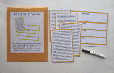 Teacher Made Literacy Center Learning Resource Game Main Idea & Details