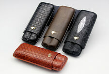 NEW DESIGN Cohiba 2 fingers cigar case w/gift box 4 colors available