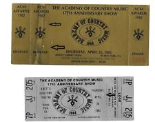 "Academy of Country Music  ""ACM"" 17th Show  Tickets 4/29/1982 Lot of 2 Complete"