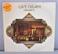 Rock Live Cream Volumn II Promo LP Atco Records 1972