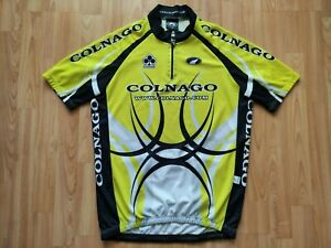 Parentini Colnago Short Sleeve Cycling Jersey Yellow,Gray,White,Black  Size: XL
