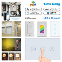 Smart Wi-Fi Wall Curtain Ceiling Fan Dimmer Light Switch For Alexa Google Home