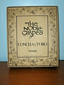 Vintage Wooden Wine Crate / Hinged Box - The Noble Grapes, Concha y Toro, Chile
