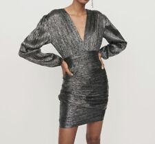 Maje Size 36 Sparkly Dress, Short. Black And Silver.