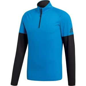 adidas Men's Xperior Active Top Half-zip L/sleeve-Shirt - Shock Blue 48-50 Inch
