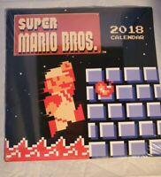 Nintendo Super Mario Bros 2018 Calendar Retro Memorabilia