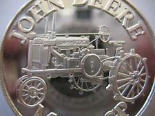 1-OZ.JOHN DEERE MODEL GP TRACTOR CHRISTMAS GIFT.999 PROOF EDT SILVER COIN+GOLD
