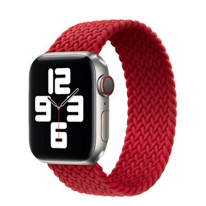 Elastic nylon sport solo loop Strap Apple Watch SE 6 5 4 3 iWatch silicone Band