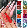 Art Love Heart Nail Sequins 3D Nail Decoration Holographic Laser Glitter Flakes