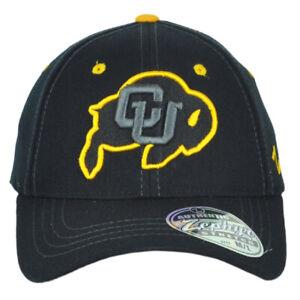 NCAA Zephyr Colorado Buffaloes Black Flex Fit Stretch Medium Large M/L Hat Cap