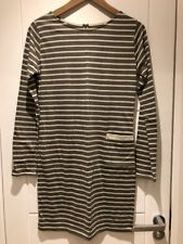 Chinti And Parker Striped Cotton Dress Long Sleeve Pocket S Small New