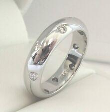 TIFFANY & Co. Platinum 4mm Etoile Diamond Band Ring 8
