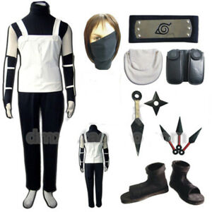 Shippuude Hatake Kakashi Anbu Uniform Set Cosplay Costume Cos Shoes