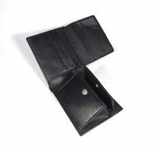 Bloqueo De RFID Genuino Negro Cuero Billetera Cartera, Bolsa De Tarjeta De Moneda Real Con Clip