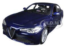 2016 ALFA ROMEO GIULIA DARK BLUE METALLIC 1/24 DIECAST MODEL CAR BBURAGO 21080