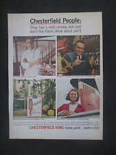 Chesterfield People King Cigarettes 1965 Original Vintage Print Ad