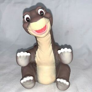 The Land Before Time Little Foot Dinosaur Hand Puppet Vintage 1988 Pizza Hut Toy
