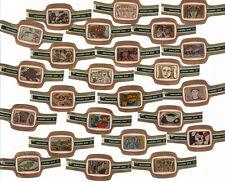 """Bauchbinden. Mercator """"Mosaics"""". 24 Cigar Bands. Vitolas. Bagues de Cigare."""