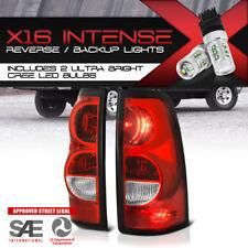 [CREE LED BACKUP] 2003-2006 Chevy Silverado Red Brake Tail Lights +Wiring +Bulbs