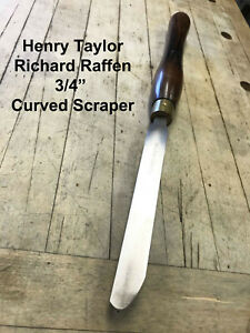 Henry Taylor Richard Raffen HSS Woodturning Curved Scraper Wood Lathe Chisel