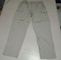 Mens Columbia GRT Omni Dry Pants shorts Size L Tan Convertible  fishing hiking