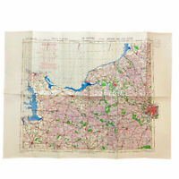 WWII D-Day US Corp. Air Map 2nd Edition War Office Map of Normandy France Relic