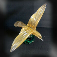 Murano art glass large seagull bird with gold dust - FREE SHIPPING