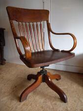 Selten USA Antik Büro Stuhl um 1900 Chair Schreibtischstuhl Drehstuhl Desk Chair