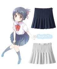 Girls Women Japanese College School Uniform Short JK Sailor Plain Pleated Skirt