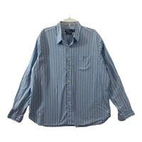 Polo Ralph Lauren Mens Nelson Classic Fit Button Down Blue Striped Shirt Sz XXL