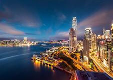 HONG KONG NIGHT NEW A1 CANVAS GICLEE ART PRINT POSTER