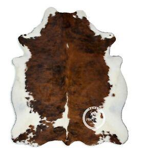 Cowhide Rug - Light Brindle Tricolor Quality Hair on Hide Size: Medium(M) K27
