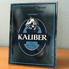 """VINTAGE IMPORTED KALIBER BEER MIRROR  ALL NATURAL GUINNESS 11"""" x 8.5"""""""