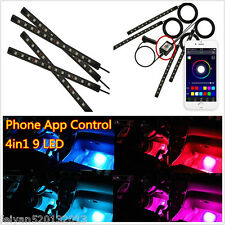 9LED Interior Foot Atmosphere Lamp Neon Light Strip With Phone App Music Control