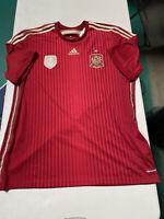 Adidas Original Spain 2014 World Cup Home Soccer Jersey