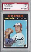 1971 Topps baseball card #209 Steve Renko, Montreal Expos PSA 7.5 NM+