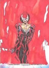 Cryptozoic Women Of Legend Color Sketch card Suicide Squad Katana Babisu Kourtis