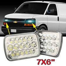 "Fit For Chevy Express Cargo Van 1500 2500 3500 LED Headlight 7""X6'' Hi/Lo Beam"