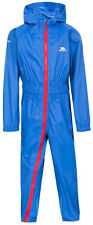 Trespass Button II Kids Rainsuit All in One Waterproof Breathable Coverall 1-12y Blue 7 - 8 Years
