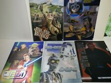 STAR WARS EPISODEⅠTHE PHANTOM MENACE 3D clear file 5 sets DARTH MAUL JEDI