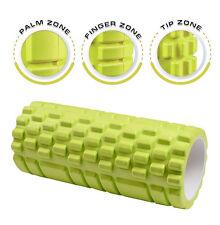 Green 13 Inch Deep Tissue Grid Yoga Fitness Massage Foam Roller (600-014)