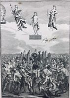 Magie 1792 Illusion Prestidigitation Magicien Magie Blanche Indiens Rare Gravure