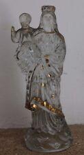 belle vierge a l enfant en verre objet religieux esoterisme