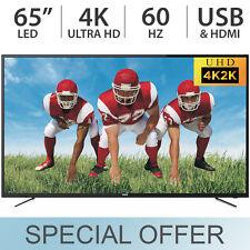 "RCA 65"" Inch 4K ULTRA HD 2160p LED 60Hz TV w/ 3 HDMI & USB RTU6549 - NEW"